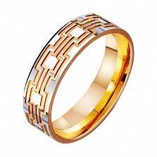 Золотое обручальное кольцо Афродита