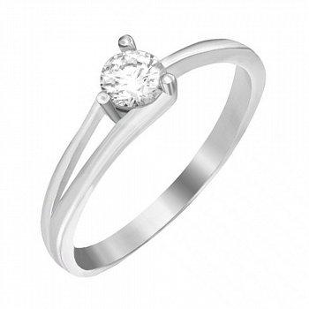 Серебряное кольцо с цирконием SWAROVSKI 000039527