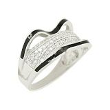 Серебряное кольцо с фианитами Ванесса