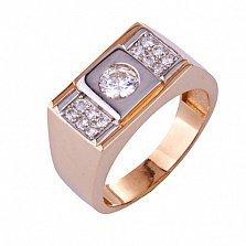 Золотое кольцо с фианитами Лэйтон