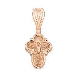 Крестик из красного золота 000125386