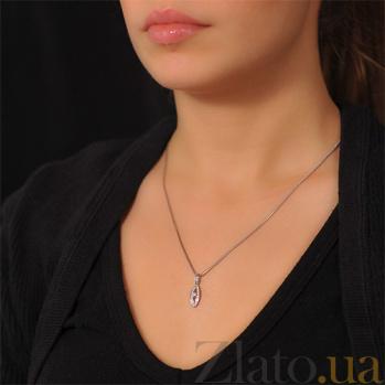 Золотой кулон с бриллиантами Таинственный взгяд EDM--П7505/1