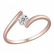 Кольцо из золота с бриллиантом Лада