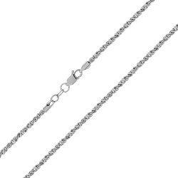 Серебряная цепь с родированием, 1 мм 000072075