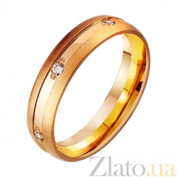Золотое обручальное кольцо Чувственность с фианитами TRF--412096