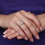 Золотое кольцо Королевская геометрия с бриллиантами