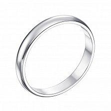 Золотое обручальное кольцо Счастливый союз в белом цвете, 3мм