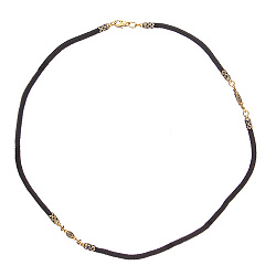 Шнурок Элиас с серебряной застежкой и двумя вставками в позолоте