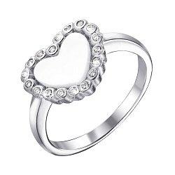 Серебряное кольцо с перламутром и фианитами 000140382