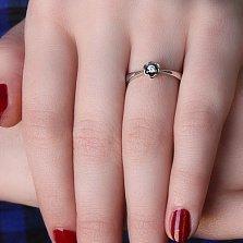 Серебряное кольцо Анюта с цирконием