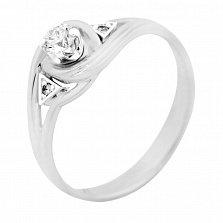 Серебряное кольцо Бриония с фианитами