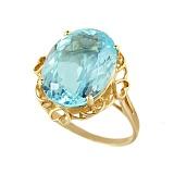 Кольцо из желтого золота с топазом Акватория