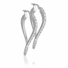 Серебряные серьги Элара