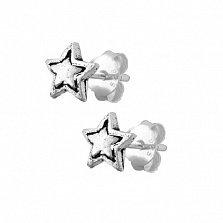 Серебряные серьги-гвоздики Stella