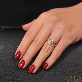 Золотое кольцо с цирконием Мечта EDM--КД0359
