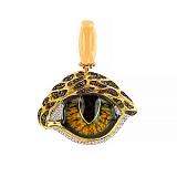 Кулон из лимонного золота Кошачий глаз