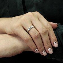 Серебряное кольцо Арлайна с фианитами