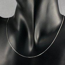 Серебряная цепочка Альден в плетении снейк