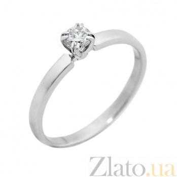 Золотое помолвочное кольцо Шарлотта в белом цвете с бриллиантом VLA--14529