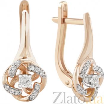 Золотые серьги с бриллиантами Летисия KBL--С2529/крас/брил