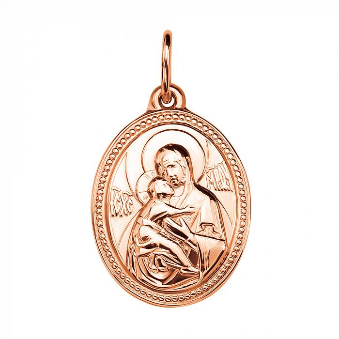 Золотая ладанка Божья Матерь Владимирская 000046124 000046124