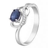 Серебряное кольцо с сапфиром  Верность