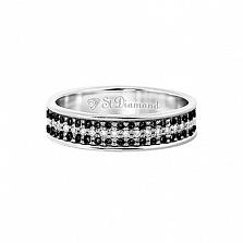 Золотое кольцо с топазами и шпинелью Объятия рассвета