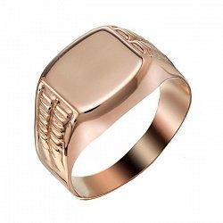 Перстень Александр в красном золоте 000066360