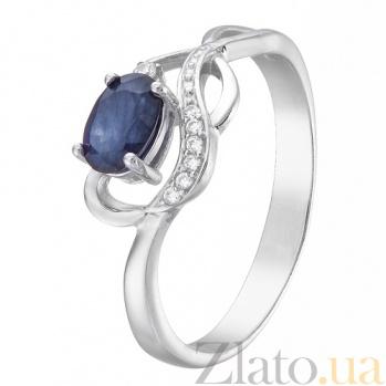 Серебряное кольцо с сапфиром  Верность 1827/9 сапф
