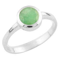 Серебряное кольцо Зухра с изумрудом