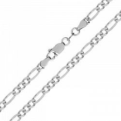 Серебряная цепочка Сарагоса с родием, 5 мм