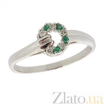 Серебряное кольцо с бриллиантами и изумрудами Лебария ZMX--RDE-1108-Ag_K