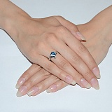Серебряное кольцо с кварцем Македония