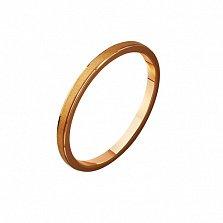 Золотое обручальное кольцо Эдем