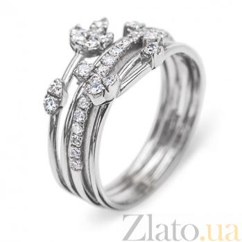 Кольцо из белого золота с бриллиантами Алмазный плен R0355