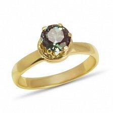 Золотое кольцо Мелани с синтезированным александритом