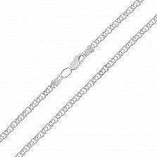 Серебряная цепочка Ямайка в плетении бисмарк