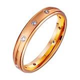 Золотое обручальное кольцо Сила чувств с фианитами