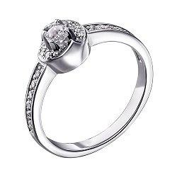 Серебряное кольцо с цирконием 000140778