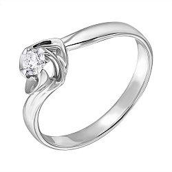 Золотое кольцо с бриллиантом Нежный цветок