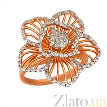 Кольцо из красного золота Мальва с цирконием VLT--ТТ1025-2