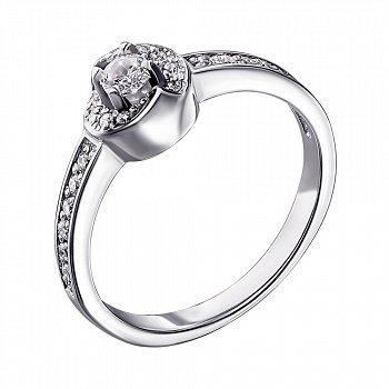 Срібне кільце з цирконієм 000140778