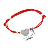 Шелковый браслет со вставкой Сердце-ласточка