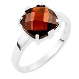 Серебряное кольцо Наина с гранатом