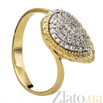 Золотое кольцо с фианитами Октавия 000030073