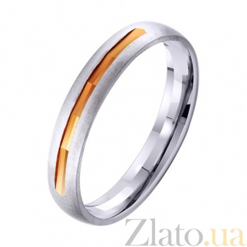 Золотое обручальное кольцо Прикосновение любви  TRF--421958
