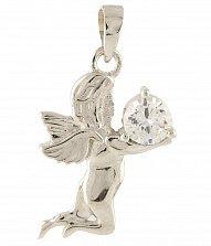 Серебряный подвес Небесный ангелочек с фианитом