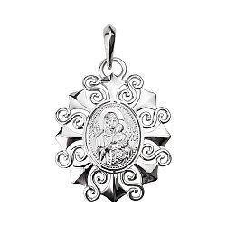 Серебряная ладанка Богородица 000130269