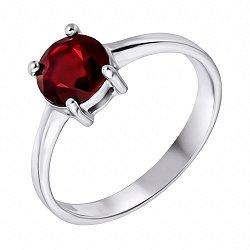 Серебряное кольцо с гранатом 000125015