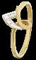 Серебряное кольцо с цирконием Ариадна 000025650